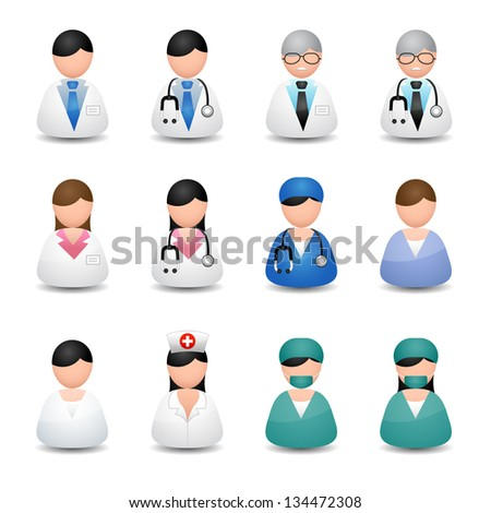 Medical people - stock vector