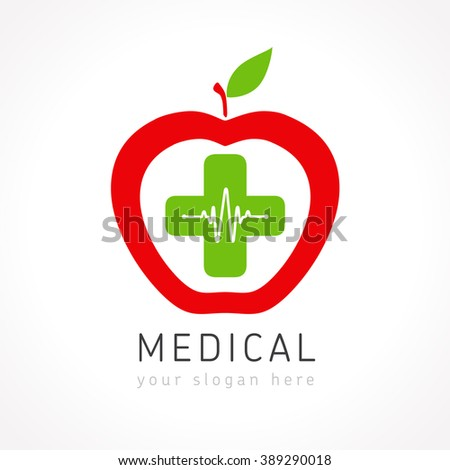 Medical pharmacy white cross on colorful stock vector for Medical design firms