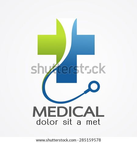 Medical pharmacy logo design template.- vector illustrator  - stock vector