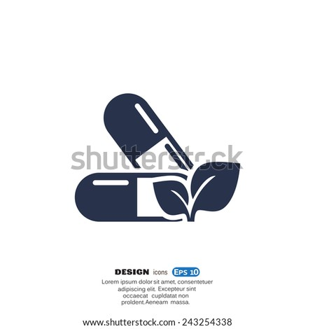 Medical pill sign icon - stock vector