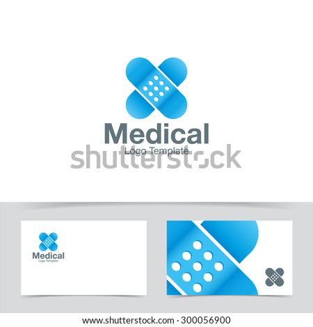 Medical plaster logo design template. Corporate branding identity - stock vector