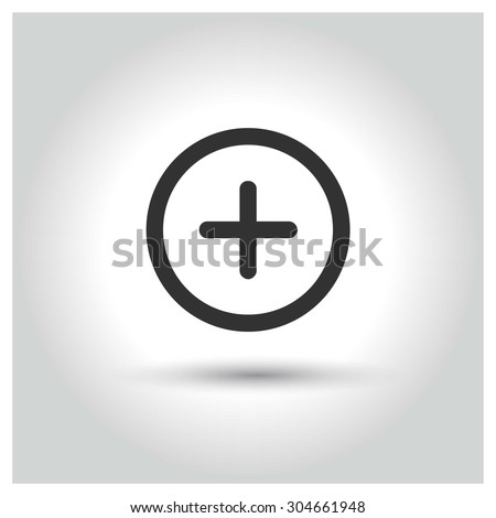 Medical Plus icon. concept web buttons. vector illustration. Flat design style - stock vector