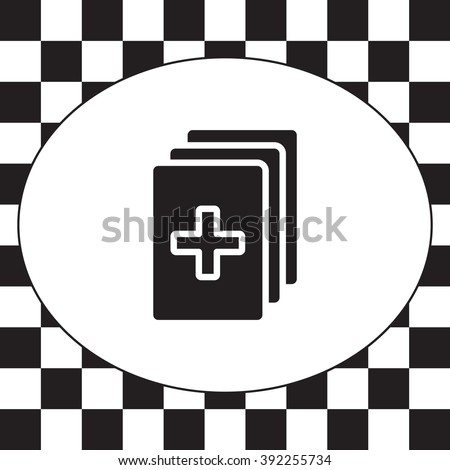 Medical records icon - stock vector