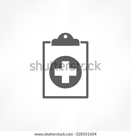 medical report icon - stock vector