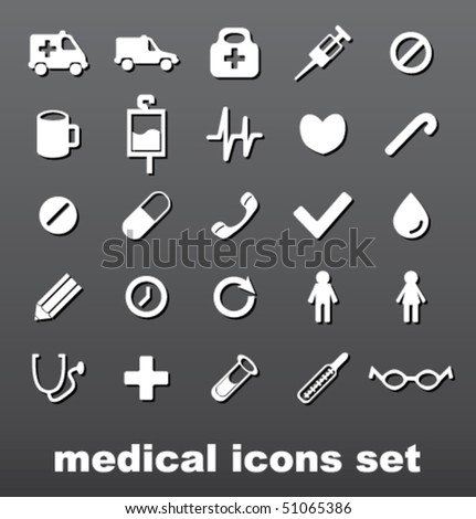 Medical sign set - stock vector