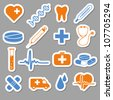 medical stickers - stock photo