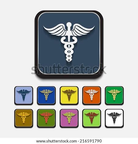 Medical symbol: esculap. Vector format. - stock vector