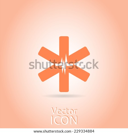 Medical symbol. Flat design style. Made in vector - stock vector