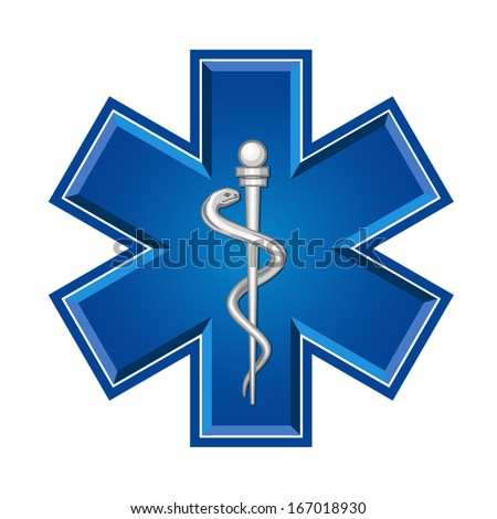 Medical symbol of the Emergency - stock vector