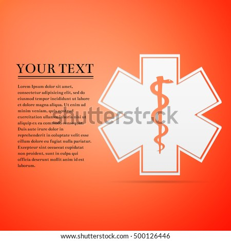 Medical Symbol Emergency Star Life Flat Stock Vector 500126446