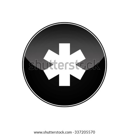 Medical symbol of the Emergency - Star of Life. Vector - stock vector