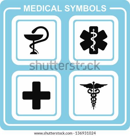 Medical symbols - stock vector