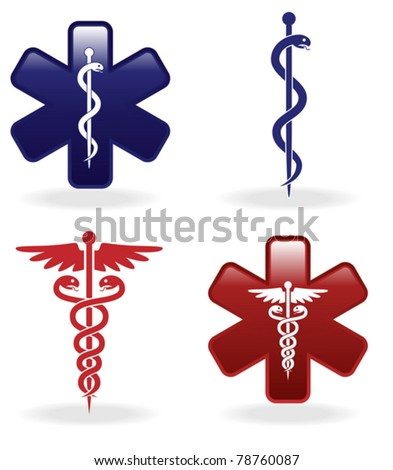 Medical symbols set (vector illustration) - stock vector