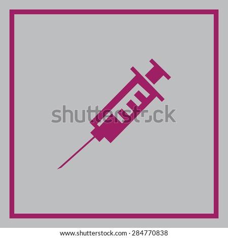 Medical syringe vector icon - stock vector
