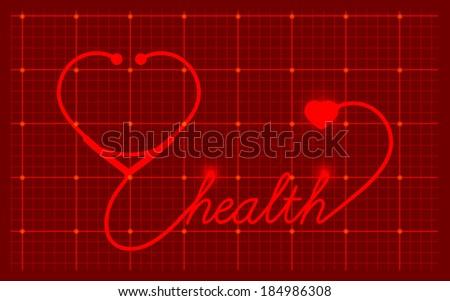 Medical Valentines symbol, vector - stock vector
