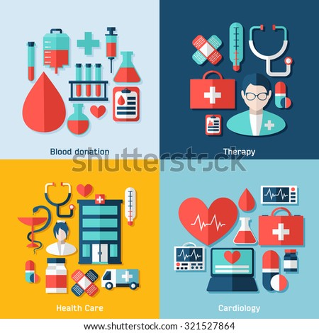 Medical vector infographics. Health and Medical Care Illustration. Medical concept with infographic elements