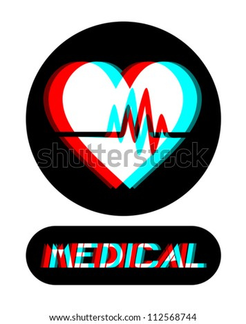 Medical visual symbol - stock vector