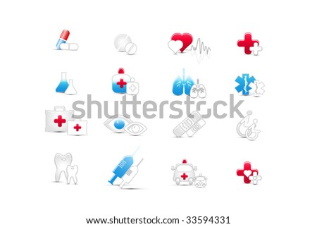 medical web icons - stock vector