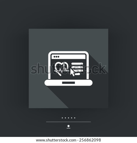 Medical website page - stock vector