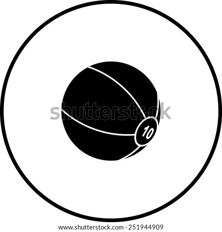 medicine ball symbol stock vector 251944909 shutterstock rh shutterstock com Dishes Vector Vector Lab