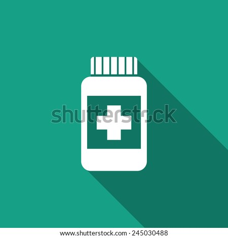 medicine bottle icon - stock vector