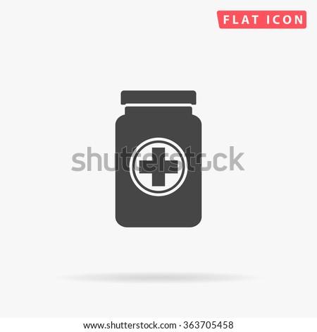 Medicine bottle Icon Vector.  - stock vector