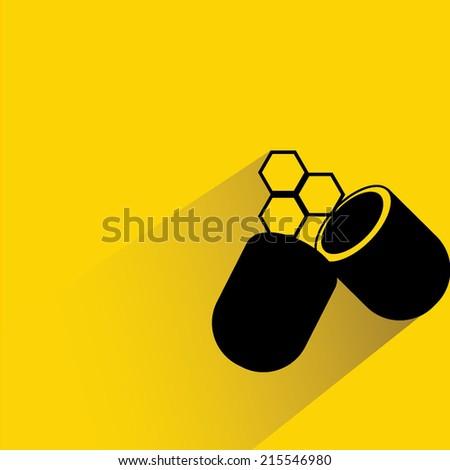 medicine capsule, medical capsule - stock vector