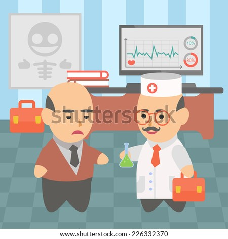 medicine doctor  disease treatment - stock vector