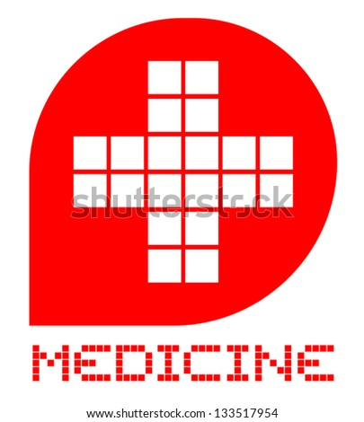 Medicine emblem - stock vector