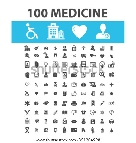 medicine, health care, icons, health care and safety, health insurance, medicine  icons, signs vector concept set for infographics, mobile, website, application  - stock vector