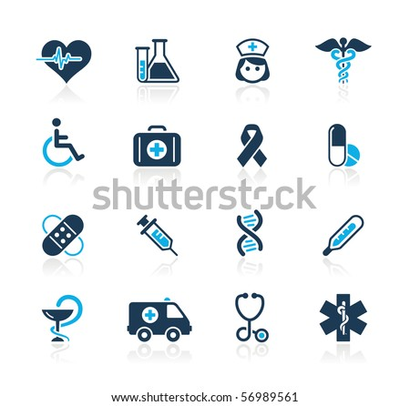 Medicine & Heath Care // Azure Series - stock vector