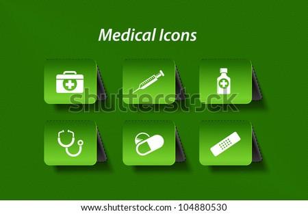 Medicine & heath care icon design. - stock vector