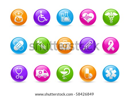Medicine & Heath care // Rainbow Series - stock vector