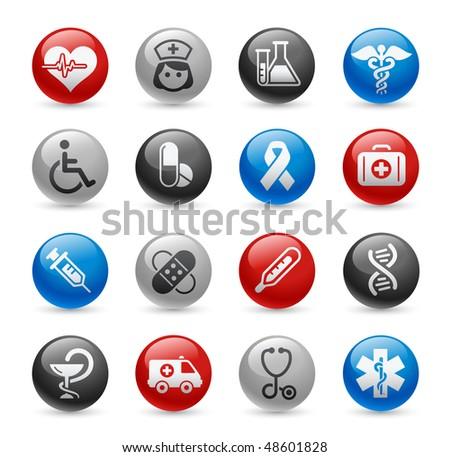 Medicine & Heath Care Web Icons // Gel Pro Series - stock vector