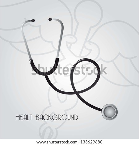 medicine sign over gray background. vector illustration - stock vector
