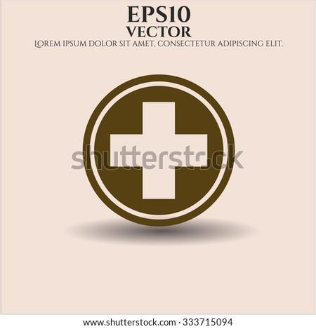 Medicine vector icon - stock vector