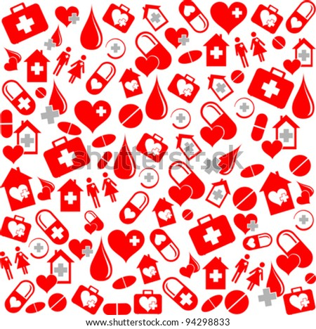 Medicine vector seamless pattern. Vector Illustration - stock vector