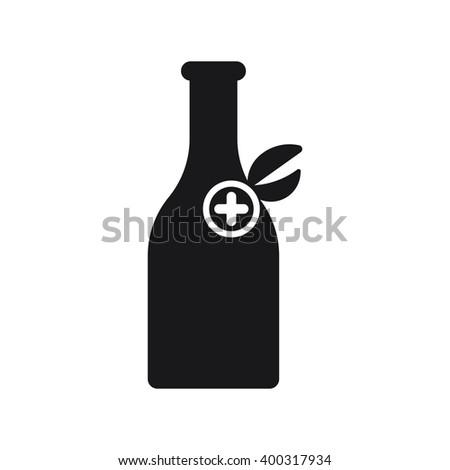 Medicine vial bottle icon Vector Illustration on the white background. - stock vector