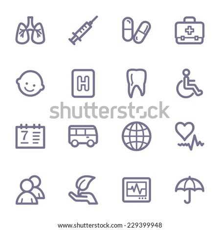 Medicine web icons set - stock vector