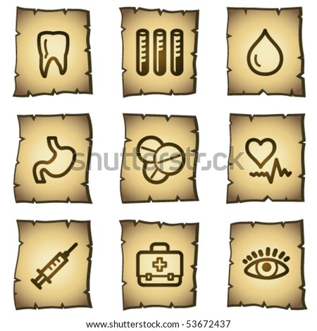 Medicine web icons set 1, papyrus series