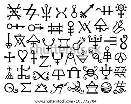alchemy symbols stock photos images pictures. Black Bedroom Furniture Sets. Home Design Ideas