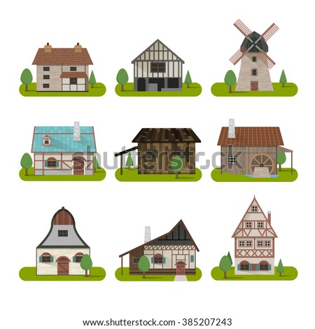 homes around the world clipart. medieval ancient buildings set of different kinds traditional houses isolated vector illustration homes around the world clipart
