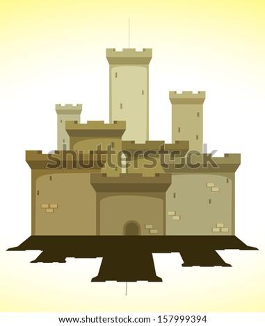 medieval castle. vector illustration - stock vector