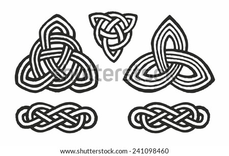 medieval Celtic knot tattoo ornament   - stock vector