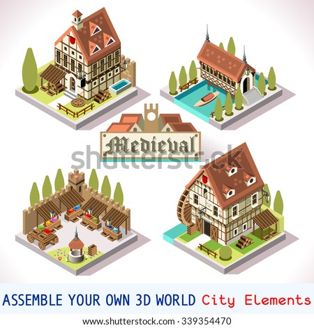 Medieval building stock photos royalty free images for 3d house building games online