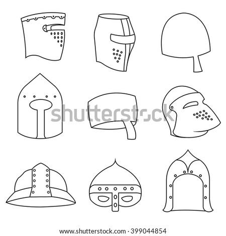 medieval helmet. Vector illustration. knight helmet, Knight icon. Knight icon vector. Knight icon illustration. Knight icon Eps10. Knight icon image. Knight icon logo. Knight icon sign.  - stock vector
