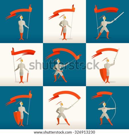 knight flag stock images royalty free images vectors shutterstock. Black Bedroom Furniture Sets. Home Design Ideas