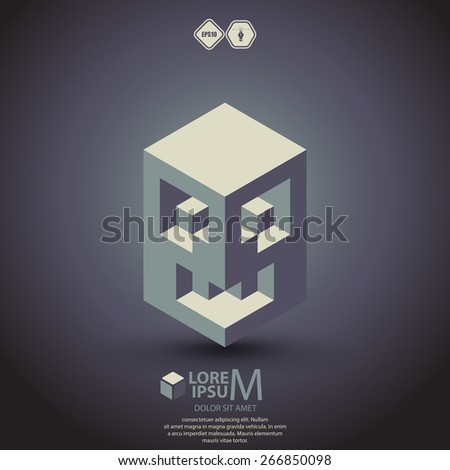 medieval mask vector - stock vector
