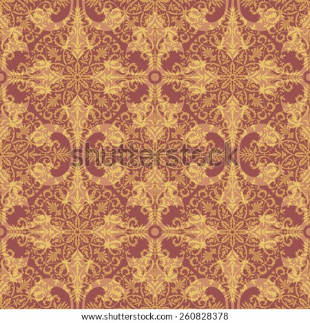 Medieval Ornament Seamless Background Pattern