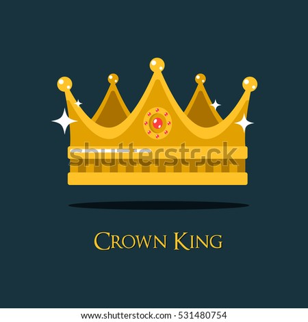 Medieval queen crown or king headdress. Princess or prince tiara royalty or luxury sign, icon of monarch or vintage coronet, old crest or retro diadem.